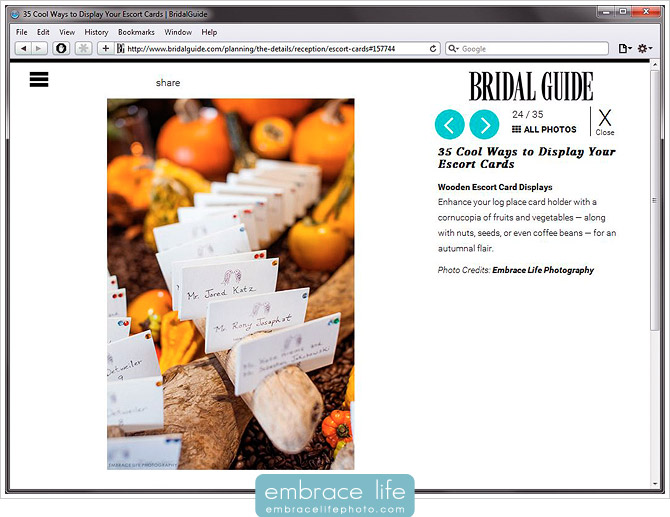 Bridal Guide Featured Photography - 35 Cool Ways to Display Your Escort Cards