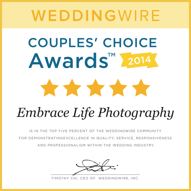 WeddingWire Couples Choice Awards 2014 for wedding photography