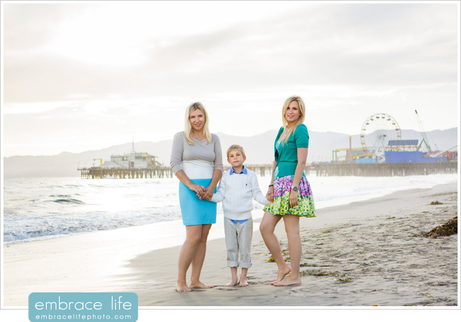 Family beach photos, Santa Monica, CA