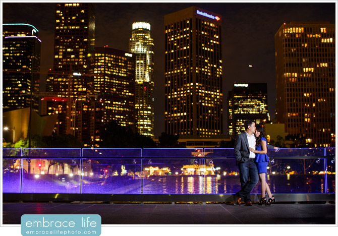 L.A. engagement photos, downtown