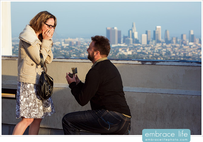 Griffith Observatory Proposal Photographer