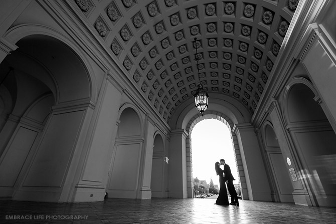 Pasadena City Hall Engagement Portrait