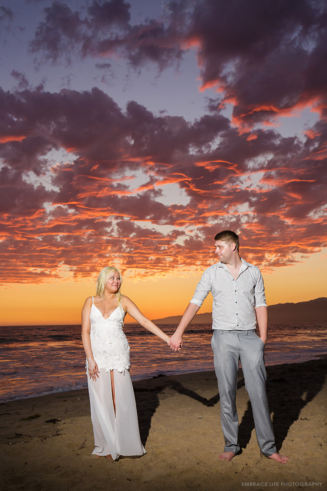 Santa Monica Beach Proposal and Engagement Portraits