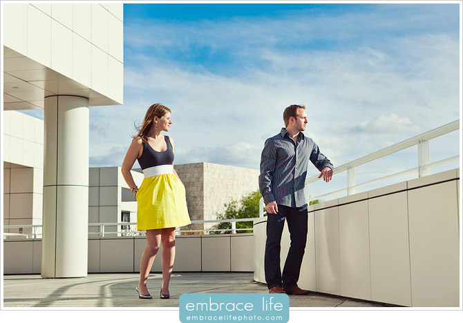 Getty Center Engagement Portraits - 04