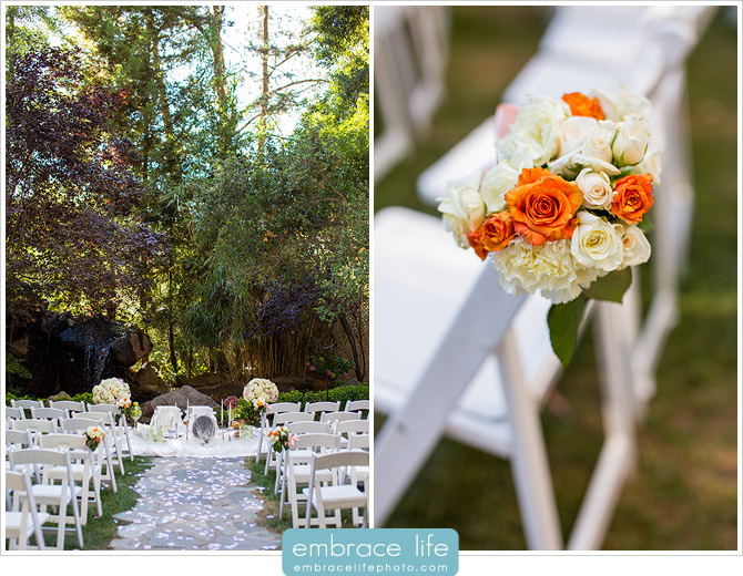 Persian wedding ceremony with Sofreh Aghd and flowers at the Birchwood Room ceremony site