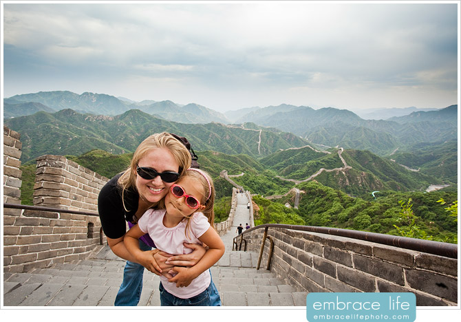 Faith and Amber at the Great Wall of China