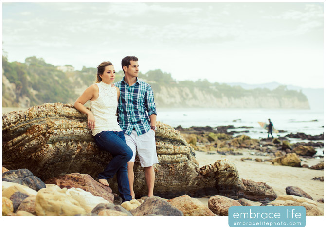 Point Dume Engagement Photography - 11