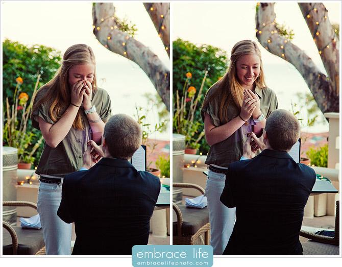 Malibu Proposal Surprise Photography