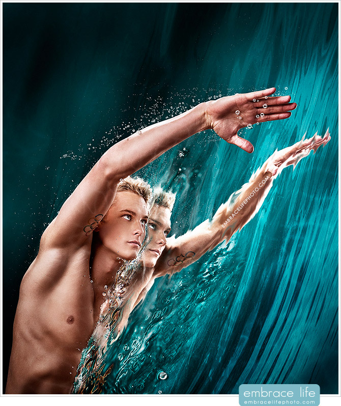 Olympic swimmer Vladimir Morozov by L.A. commercial photographer, Embrace Life Photography