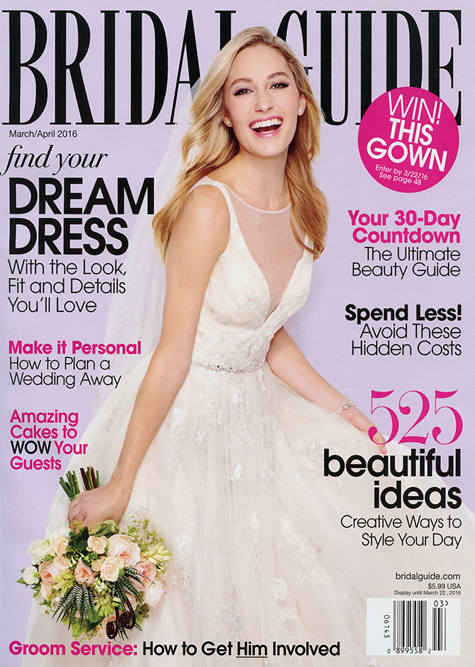 Cover of Bridal Guide magazine's March/April 2016 issue