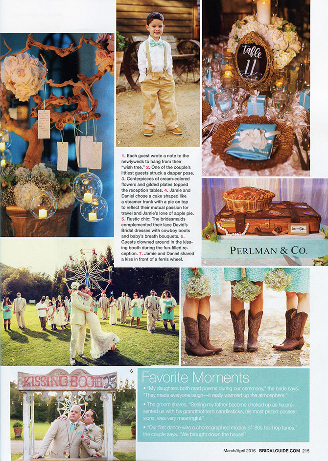 Tiffany blue themed wedding details and fun carnival elements