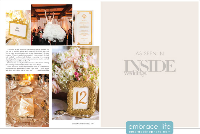 Inside Weddings Magazine - Riviera Country Club Photography