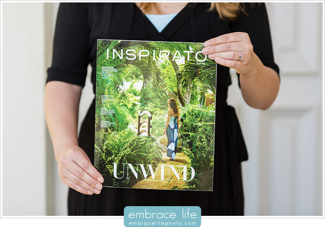 Inspirato Magazine featuring wedding photography by Embrace Life Photographers