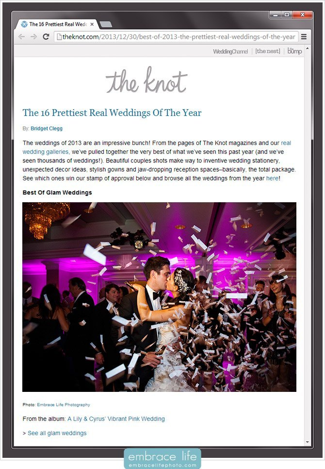 The Knot Prettiest Weddings Best of Glam Wedding London West Hollywood Photography