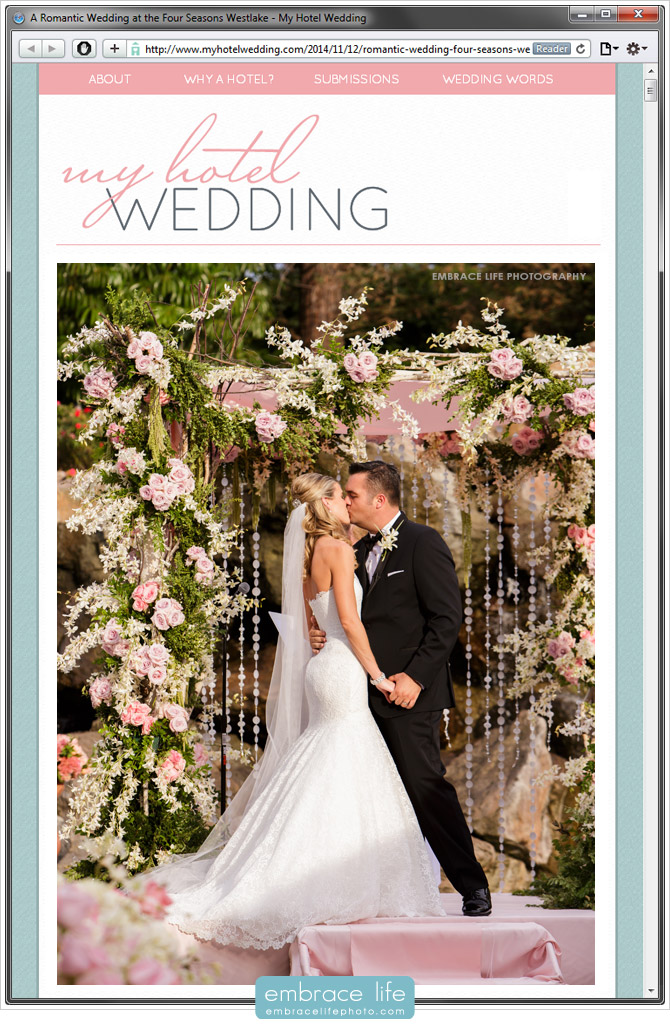Wedding Photography at the Four Seasons Hotel in Westlake Village, CA
