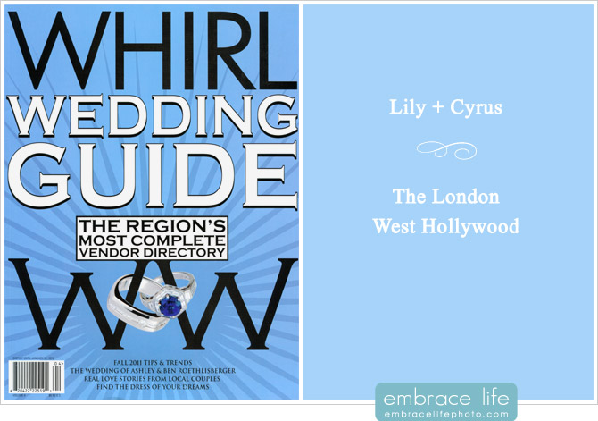 Published wedding photography at The London, Hollywood