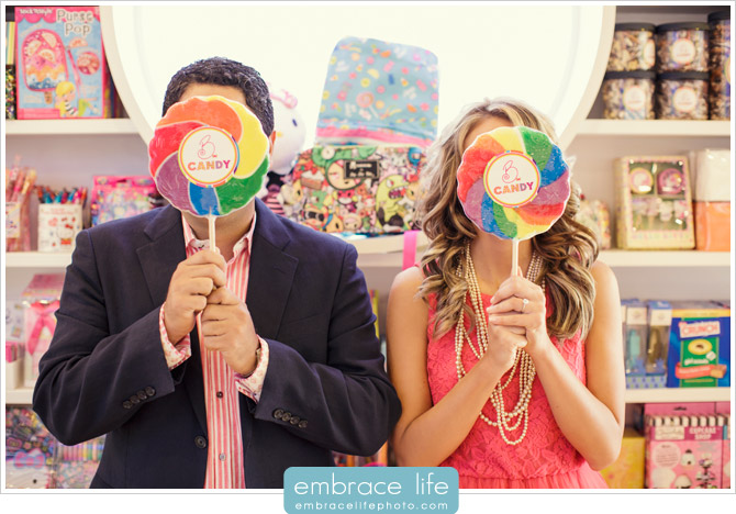 Candy Shop Engagement Portraits - 03