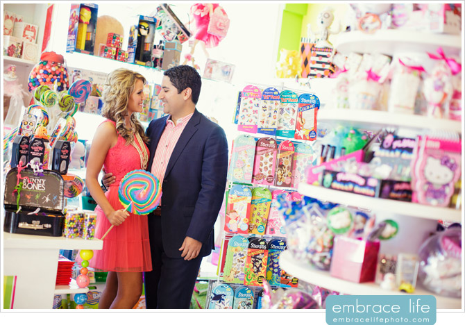 Candy Store Engagement Portraits - 04