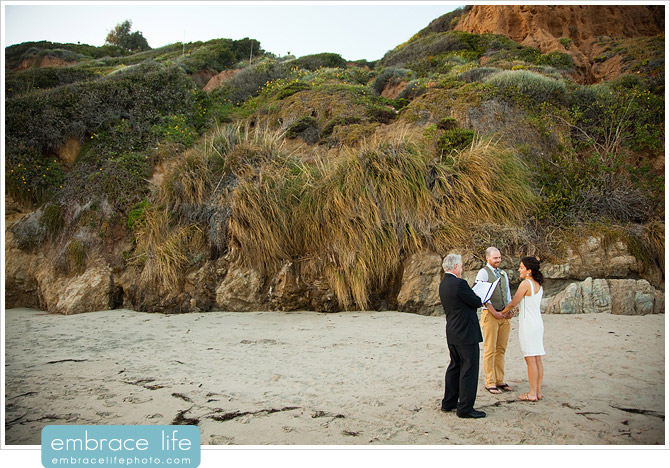 El Matador Beach Wedding Ceremony - 11