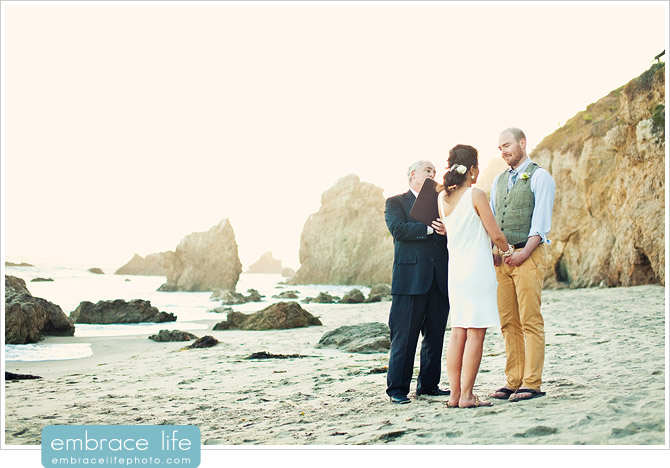 El Matador Beach Wedding Ceremony - 12