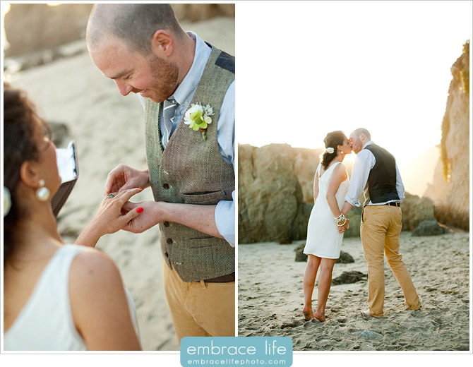 Malibu El Matador Beach Wedding Ceremony - 14