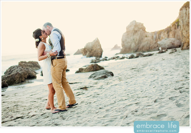 Malibu El Matador Beach Wedding Ceremony Photography - 15