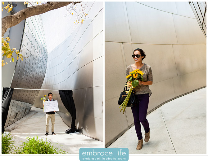 Disney Concert Hall Proposal Photographer - 14