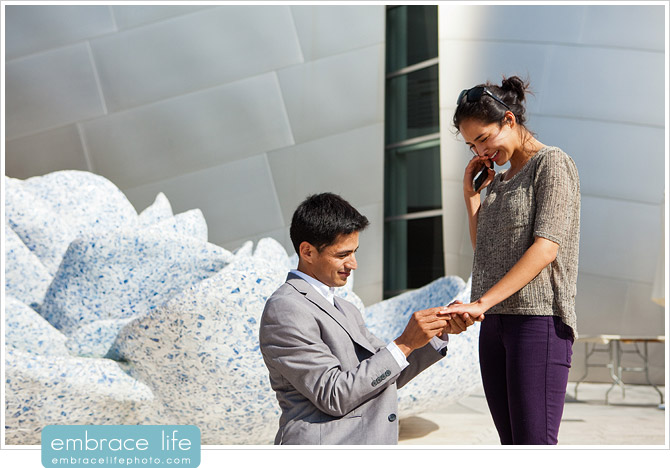 Disney Concert Hall Marriage Proposal Photography - 20