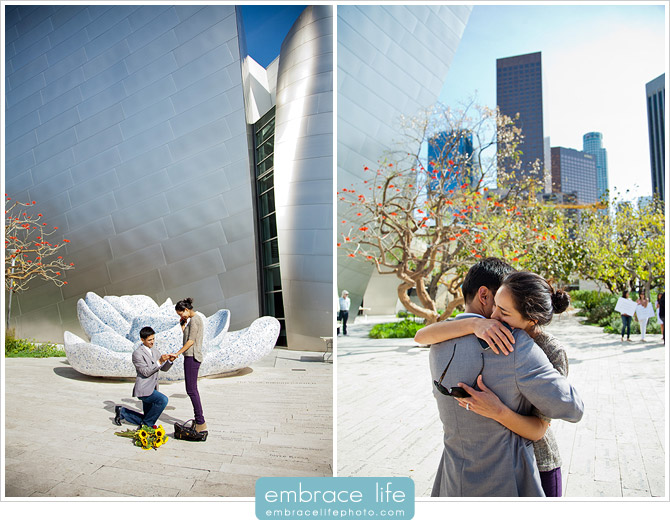 Disney Concert Hall Marriage Proposal Photography - 21