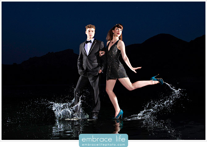 Portrait of Karmin on the water by Los Angeles music photographer